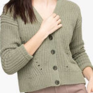 Button Front Chenille Cardigan